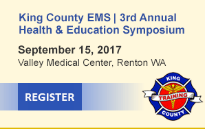 King County EMS Health & Education Symposium, Sept 15th, 2017